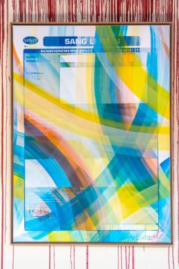 Paris, Sang9, exposition, abstraction, mouvement